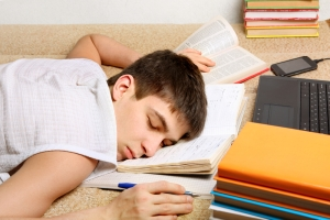 sleeping student image